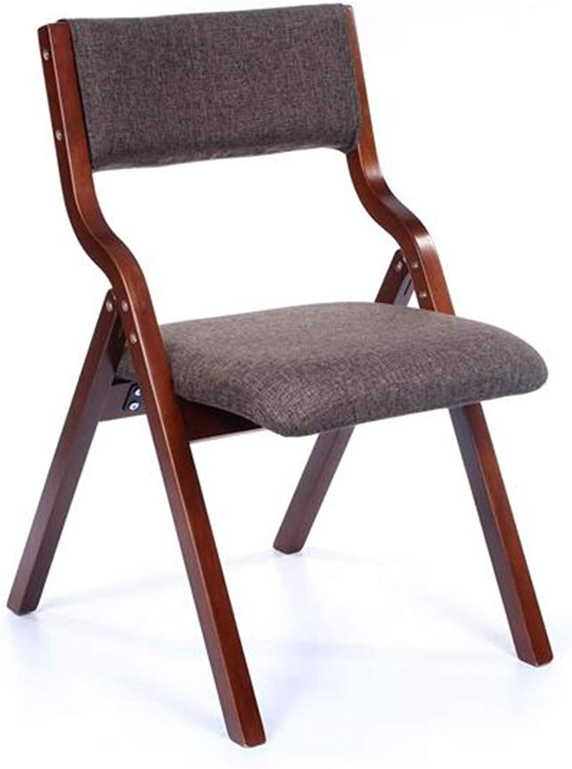 XUERUI Chairs Folding Chair Bent Wood Frame Linen PU Fabric Padded Office Computer Chair Back Rest Chairs No Assembly Required Furniture (color   T12)