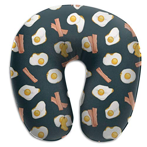 U-vormige kussens met spek en roerei, decoratief steunkussen om in te slapen in het trechter