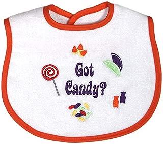 Raindrops Embroidered Bib, Got Candy