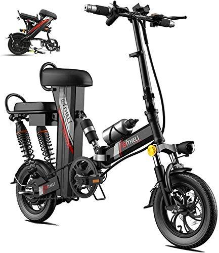 Bicicletta cruiser elettrica pieghevole Bici elettrica della neve, Bike elettrica Bikfun E-Bike Mountain Bike, Bicicletta assistita elettrica da 12 pollici con batteria al litio da 48 V 30Ah, motore 3