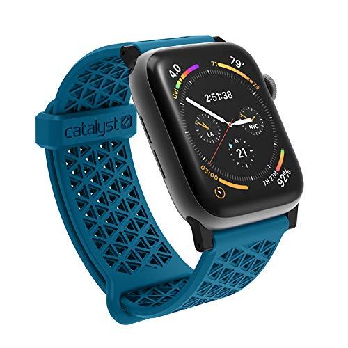 Catalyst Cinturino in Silicone Ipoallergenico (24mm) per Apple Watch 42mm y 44mm, per Apple Watch Series 5,4,3,2,1 - Blueridge/Tramonto