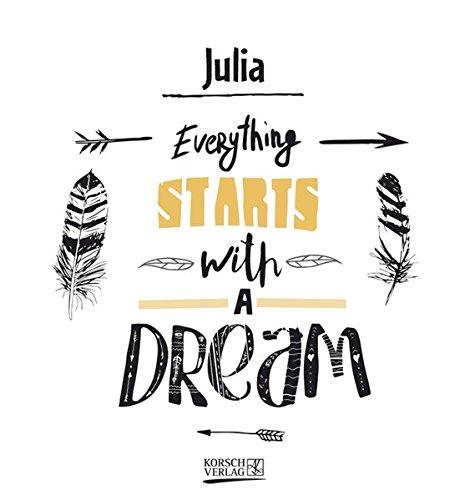 Namenskalender Julia: Ideales Geschenk mit 12 trendigen Typo-Art-Sprüche mit immerwährendem Kalendarium. Wand-Aufstell-Postkarten-Kalender in einem.
