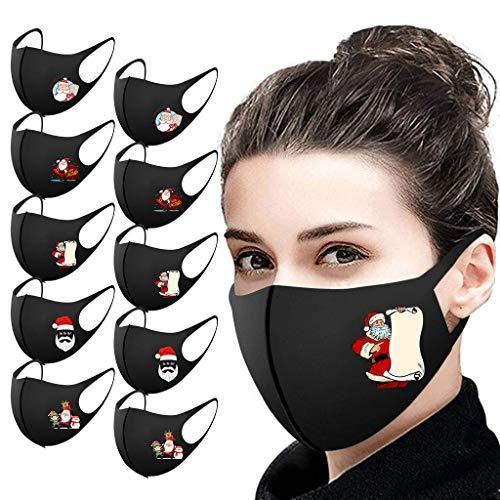 God's pens 1/5/10/25PC Christmas Adult Cloth Face_Mask Men Women Reusable Washable Face Bandanas Breathable Mouth Protection