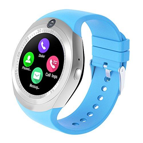 zeerkeer Smart Reloj Bluetooth pantalla táctil con dormir Tracker,pulsera inteligente reloj Fitness Tracker con podómetro, Ponte de alarma, Música de jugar, SMS para Android y iOS Teléfono
