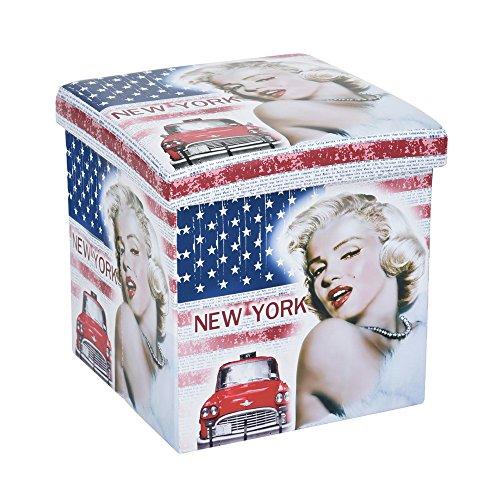 GAVIN zitzak met opbergdoos, 38 x 38 x 38 cm – bedrukt Monroe