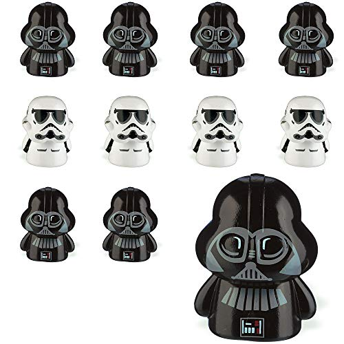 Party City Star Wars Finger Puppets 24 Count, Birthday Party Favors for Kids, 12 Each of 2 Designs, Rubber