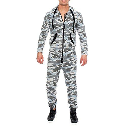 Finchman 98V5 Herren Camouflage Jumpsuit Jogger Jogging Anzug Grau XL