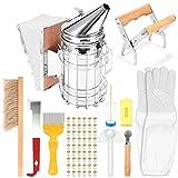 YChoice365 Imkerwerkzeug-Kit, Bienenstock-Starter-Kit, Bienenstöcke für Anfänger, Imkerei-Ausrüstungs-Tool für professionelle Imker (11-teiliges Set)