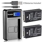 Kastar Battery (X2) & LCD Slim USB Charger for Nikon EN-EL20, ENEL20, EN-EL20a and Nikon Coolpix P950, P1000, Coolpix A, Nikon 1 AW1, 1 J1, 1 J2, 1 J3, 1 S1, 1 V3, and Blackmagic Pocket Cinema Cameras