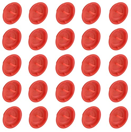 Meister Signaldeckel - Geeignet für Ø 60 mm Unterputzdosen - 25 Stück - Rote Signalfarbe für ein schnelles Auffinden - Schutz des Doseninneren / Dosendeckel für Gerätedosen / Putzdeckel / 7460610
