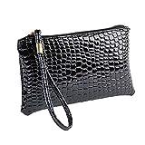 MEIbax Dame Krokodil Leder Clutch Handtasche Tasche Geldbörse Frauen Clutch