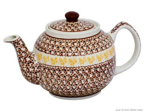 Original Bunzlauer Keramik Teekanne - 1.0 Liter - Original Bunzlauer Keramik im Dekor 973