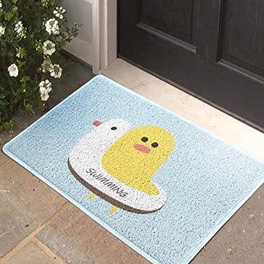 Household Bag pad Leiwenkai Cartoon Wire Circle Mat PVC Door Mat Non-Slip Mats Home Kitchen Into The Bathroom Door Mat Doorma