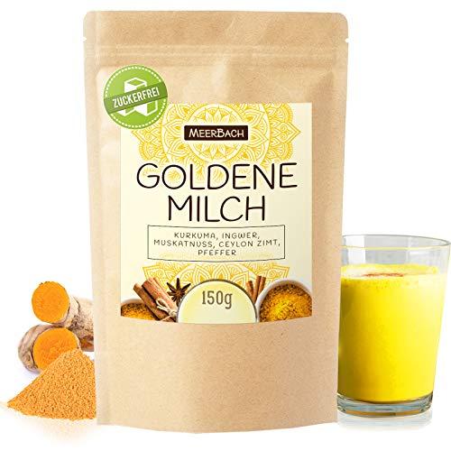 Goldene Milch 150g • Kurkuma Latte Gewürzmischung für Golden Milk • Yoga Drink • Pulver Mischung aus Kurkuma, Muskatnuss, Ingwer und Ceylon Zimt • ZUCKERFREI