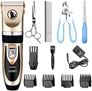 Ceenwes Dog Clippers Low Noise Pet Clippers Rechargeable Dog Trimmer Cordless Pet..