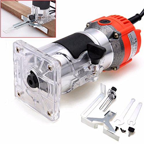 Affordable DORATA - 800W 220V Electric Hand Trimmer 6.35mm Wood Laminate Palm Router Joiner Tool wit...