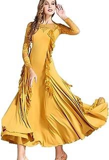 831ff414a8b9 JTSYUXN Abito da Ballo di Pizzo Gonne Moderne Abiti da Ballo Waltz Cha Cha  Costume da