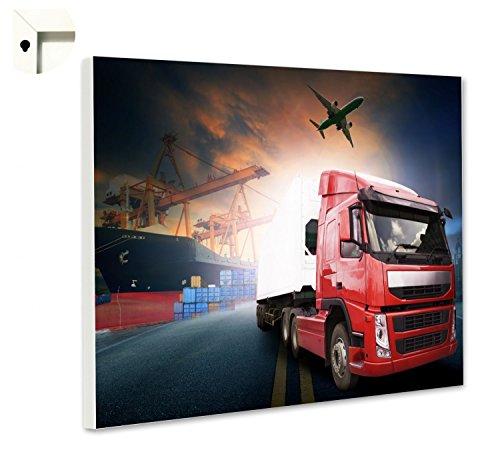 B Magnet Board Pin Board Memo Board met decoratieve vrachtwagen vliegtuig en SC 100 x 80 cm