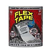 Flex Tape Rubberized Waterproof Tape, 4' x 5', Gray