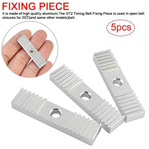 joyliveCY 5 stücke Zahnriemen Klemmen Aluminiumlegierung Nippel mit Aluminiumzahnrad 3D Drucker Zubehör 2GT Zahnriemen Zahnklammer Montageblock