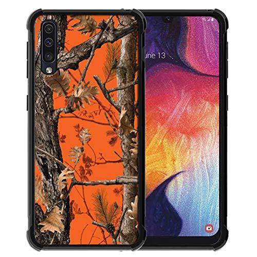 Samsung , Galaxy A50S/A30S, ABLOOMBOX Stoßdämpfende weiche Bumper Slim Rubber Pro Maxtective mit verstärkter Schutzhülle für Galaxy A50S/A30S/A50, Orange Camouflage