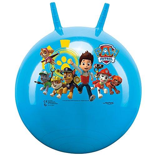 John- Sprungball Paw Patrol-Bedruckter Hopperball, Hüpfball, Springball, Hopper Ball Drinnen & Draußen-wiederaufblasbar, Robust-Fitness für Kinder 59546 Palla per Saltare, Colore Blau, Globo-59546