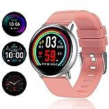 TagoBee TB15 Orologio Intelligente Ip67 Impermeabile Smart Watch 1.22'' IPS Schermo a Colori IPS Tracker Fitness con cardiofrequenzimetro, Sleep Monitor, pedometro, Call&SMS notifiche(Rosa)