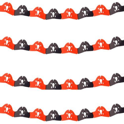 Folat B.V. 2M–Guirnalda Pirata en Rojo y Negro para decoración Fiesta o Fiesta temática/
