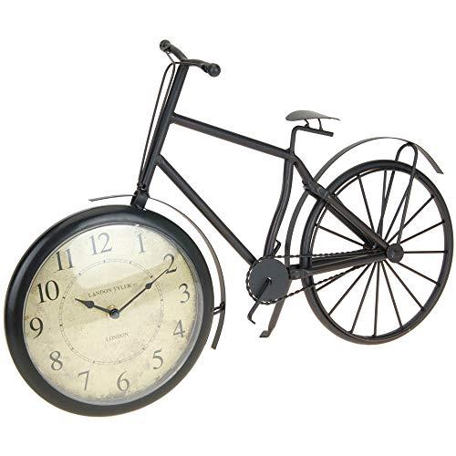 Mazali Tischuhr Metall Fahrrad-Form, Multicolour, 50 x 10 x 33 cm
