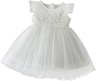 KRUIHAN Baptism Birthday Gown Bridesmaid Lace Tutu Evening Party Wedding Dress