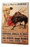 qidushop World Tour Madrid Bullfighter Cartel de Metal para el hogar, decoración de Pared, Poste para Mujeres y Hombres