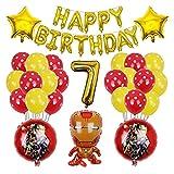 JUNMAIDZ Globos 1set Hero Hulk Globos Globos Feliz Cumpleaños Inflaje Bola de Aluminio Cumpleaños Bebé Bebé Suministros (Color : 7)