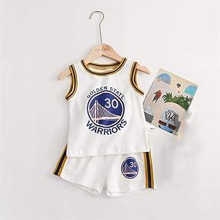 Juego de Jersey Deportivo para niños Baby - Curry # 30-Blanco/Fanáticos de los balones de niños y niñas