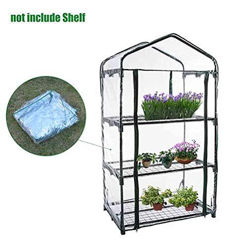 Faviye foliekas voor tuinkas, doorzichtige PVC foliekas voor planten buitenshuis (zonder ijzeren frame)