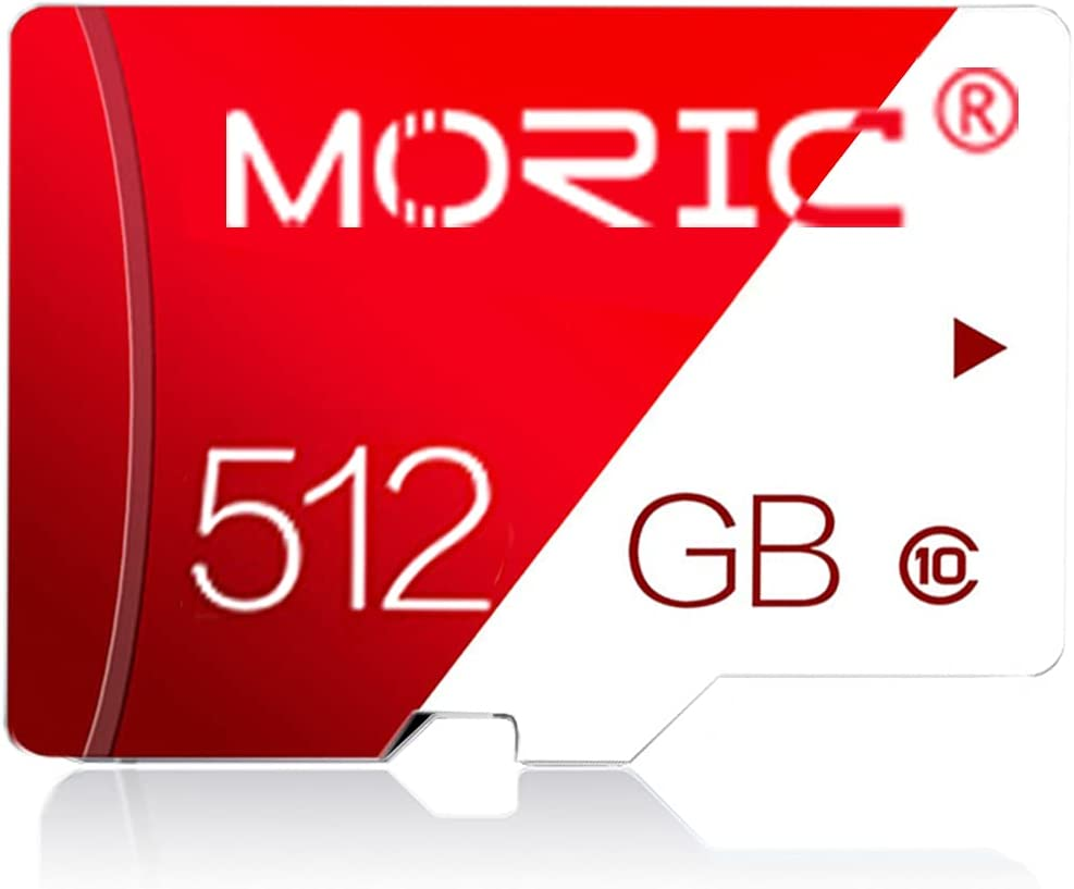 512GB Micro SD Card with Adapter Class 10 High Speed Memory Cards for Camera Memory Card for Phone Computer Game Console, Dash Cam, Camcorder, GPS, Surveillance, E-Reader, Drone