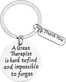 Best Therapist Keychain - A Great Therapist is Hard to Find but Impossible to Forget Jewelry - Therapist Gift for Men and Women Review