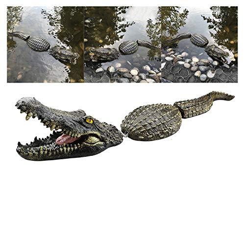 Simulation Krokodil Kopf Lockvogel, Wasserdichtes Schwimmendes Krokodil Gefälschter Alligatorkopf Parodie Spielzeug Wasser Lockvogel, Gartenteich Kunstdekor Für Pool Teich Garten