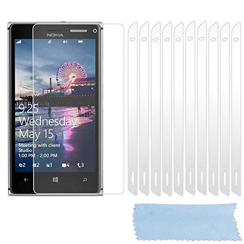 Cadorabo Pellicola per Nokia Lumia 925 Pellicola Protettiva Display in Alta TRASPARENZA - 10x Pezzi di Foglio per la Protezione dello Schermo - Film High Clear Trasparente AntiGraffio