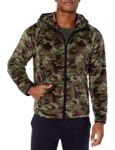 Peak Velocity Mens Sherpa Fleece-Outerwear-Jackets, Camouflage, US L (EU L)