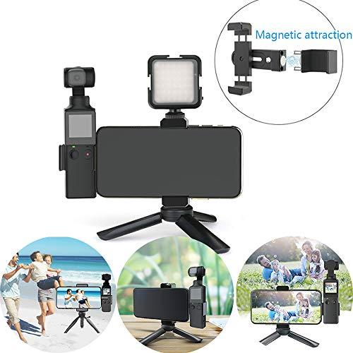 Gimbal Smartphone-bevestigingsklem, multifunctionele magnetische telefoonbeugel met statief, Gimbal-uitbreidingsadapter voor FIMI PALM Handheld Gimbal-camera
