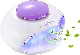 TOUCHBeauty Secador de uñas con aire LED, lámpara de uñas LED, secador de esmalte de uñas portátil con ventilador y luz LED para barniz de uñas normal, esmalte de uñas con gel LED AG-0889B
