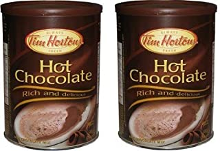 2 Cans of Tim Hortons Hot Chocolate - Rich and Delicious 17.6oz (500g) Each – Imported from Canada