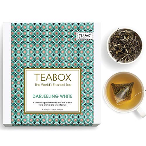 Teabox Himalayan Darjeeling White Tea | RICH IN ANTI-OXIDANTS | Fresh Floral Aroma and Silky Texture...