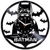 BATMAN LEGO Reloj De Pared Vintage Accesorios De Decoración del Hogar Diseño Moderno Reloj De Vinilo Colgante Reloj De Pared Reloj Único 12' Idea de Regalo Creativo vinilo pared Reloj BATMAN LEGO