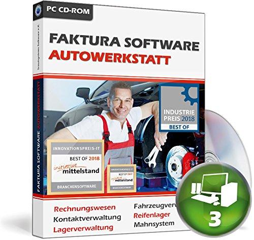 Faktura Software Autowerkstatt - Rechnungsprogramm Netzwerk 3 PCs