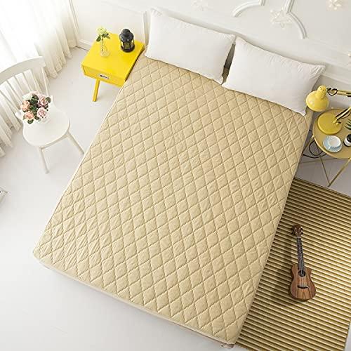 YDyun Protector de colchón/Cubre colchón Acolchado de Fibra antiácaros, Transpirable, Una Sola Pieza de Funda Protectora de colchón, Lavable y Transpirable.