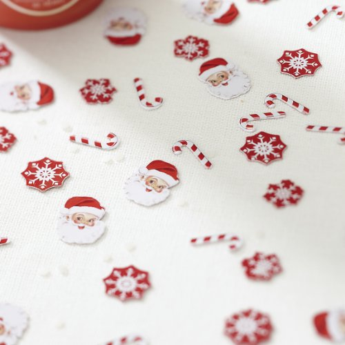 Ginger Ray Christmas Party Table Confetti Scatter Decoration - Candy Canes & Santa