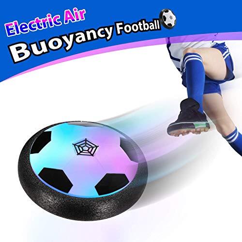 Theefun Air Power Fußball Air Football mit LED Beleuchtung Indoor fußball Air Fussball Geburtstagsgeschenk Haustier Kinder, Airball Spielzeug ab 4 Jahren