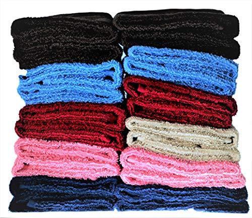 Debonair Lux Cotton 600 GSM Washcloths - 24 Pack, Multi-Color, 13 x 13 inch Extra Soft Wash Cloths (24)