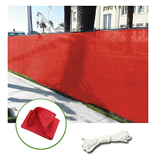 LIANGLIANG Sunblock Shade Cloth, Multifunction Polyethylene Sun Protection Insulation Cool Down Anti-UV, Apply to Outdoor Balcony Gardening (Color : Red, Size : 4x6m)
